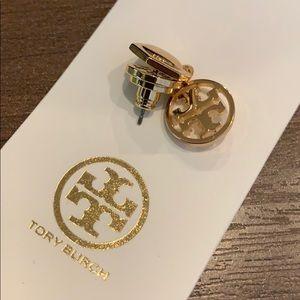 Tory Burch logo drop down earrings